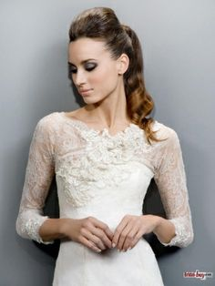 Vintage Lace Wedding Dresses with Long Sleeve Lace Jacket