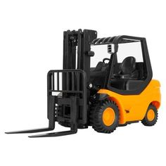 Mini remote-controlled forklift.
