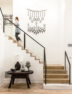 Modern Staircase Design Ideas - Stairways are so common that you don't provide a second thought. Take a look at best 10 instances of modern staircase that are as sensational as they are . Staircase Railings, Staircase Design, Stairways, Staircase Remodel, Staircase Ideas, Open Staircase, Basement Stairs, House Stairs, Open Basement