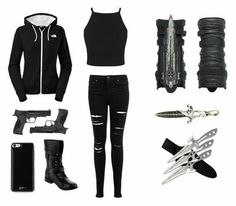 Thana Altessa Flemming - Klaus/Elijah/Kol Love Story - D - Trend Femininer Stil 2019 Edgy Outfits, Mode Outfits, Outfits For Teens, Girl Outfits, Fashion Outfits, Fashion Boots, Spy Outfit, Badass Outfit, Assassins Creed Outfit