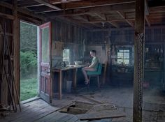 Gregory Crewdson's photographs almost always project solitude and intimacy, even if his images take a team to organize. The subject of one of his images looks back at the experience.