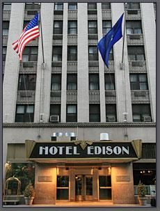Edison Hotel New York, we stayed here in September 2009