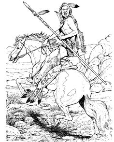 Horses coloring pages 34
