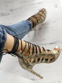 d874e6bf869c2 boutiquefeel   Open Toed Lace-Up Thin Heeled Sandals