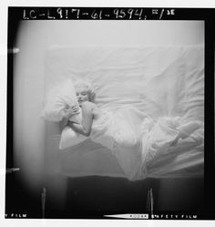 1961 Sexy studio film shot of Merilyn Monroe in bed. From the Library of Congress - 10 shots in all see them at http://lcweb2.loc.gov/phpdata/pageturner.php?agg=ppmsca=13651=contact