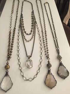 Vintage crystal, quartz and gemstone necklaces. Wholesale and retail inquiries lisajilljewelry@gmail.com
