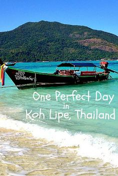 One Perfect Day in Koh Lipe Thailand. Relax, snorkel, eat and explore this tiny southernmost island in Thailand