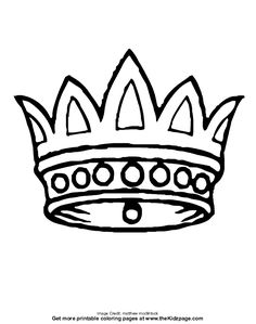 King and Queens Crown Printable Templates Coloring Pages