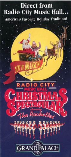 For the first time outside of The Radio City Music Hall the Christmas Spectacular is now in Branson, Missouri only at the Grand Palace in 1994!