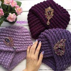 Crochet Beautiful Turban Very crochet y and Fast Diy Baby Headbands, Diy Headband, Free Crochet, Knit Crochet, Crochet Hats, Crochet Baby Hat Patterns, Knitting Patterns, Crochet Turban, Knit Beanie Hat