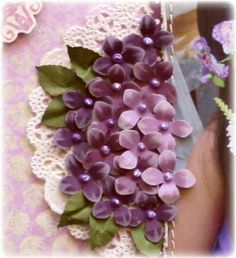 make violet posies with the Martha Stewart Hydrangea punch.  by gabrielle pollacko