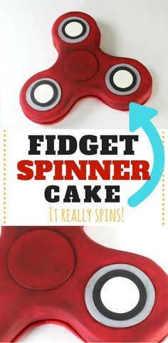 Obsessed with the fidget spinner? Make it into a cake! Learn how to make your own fidget spinner cake that actually spins. via @KaraJaneB