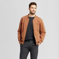 b2be830f18bf Men s Standard Fit Vintage Bomber Jacket - Goodfellow  amp  Co™ Brown  Bomber Jackets