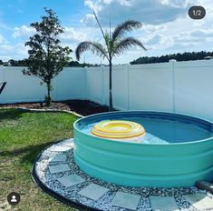 """Your Stock Tank Pool Resource on Instagram: """"Nothing but good vibes here! Go check out this stock tank pool transformation over at @spirited.fitness.mama. Looks great!!"""" Stock Pools, Stock Tank Pool, Backyard Renovations, Good Vibes, Looks Great, Photo And Video, Patio, Outdoor Decor, Pictures"""