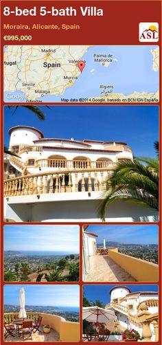 8-bed 5-bath Villa in Moraira, Alicante, Spain ►€995,000 #PropertyForSaleInSpain