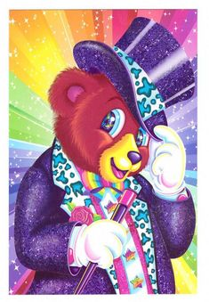 Lisa Frank Hollywood Bear Postcard by CollectorsWarehouse on Etsy, $4.00