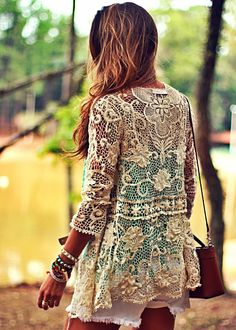 Laced boho top with white shorts for summer fashion
