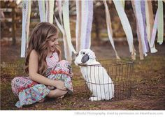 Easter Photo Session Ideas - Children's Portrait Session by Blissful Photography - Featured on I Heart Faces