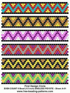 Peyote Bead Patterns | free-peyote-bead-pattern-A-01