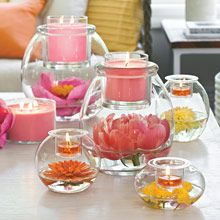 Customizable Clear Candle Holders perfect for ANY wedding! Simply add candles and flowers that match your wedding colors! Contact me to earn your wedding decor free or highly discounted! www.partylite.biz/breannataylor