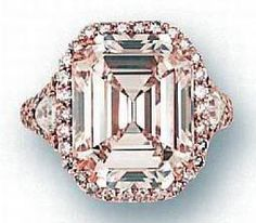 Diamond Ring Jewelry with Pink Shade
