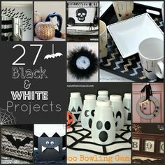 27 Black and White Halloween Projects