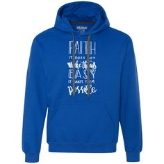 """In order to achieve your goals in life you must first have faith and trust in yourself. Believe it or not, that psychological level plays a huge role in achieving what you are set out to do! Always remember this when you start thinking things aren't possible. """"Have Faith, It Does Not Make Things Easy It Makes Them Possible! GET YOURS at (positiveimpressionsco.com) #positivevibes #positivemind #positivelife #love #happiness #positivity #peace #inspiration #motivation #daily #quotes #like…"""