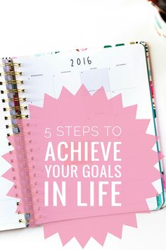 5 helpful tips on how to achieve all your goals in life! Helped me see how achieving any goal is always  possible. Read it now or pin it for later! ♡