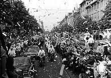 Kennedy in Berlin 1963 Aufnahme in der Rheinstrasse Hoehe der Goerz'schen Hoefe