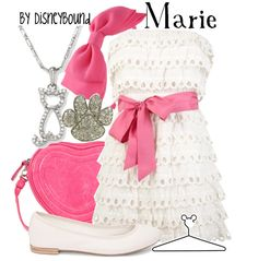 Marie from the Aristocats- Isabelle birthday outfit idea?  White dress/pink bow.