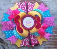 Wishes Inspired 5 Inch Stacked Boutique Bow