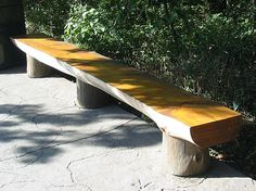http://www.nathankramer.com/garden/landscaping/benches/log_bench.jpg On the To Build At Home list