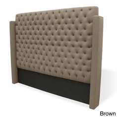This headboard is handmade using FSC-certified North American alder. The headboard upholstered in premium saddle-stitched linen. Set includes: (1) Headboard Size: Queen, king Upholstery color: Grey, b