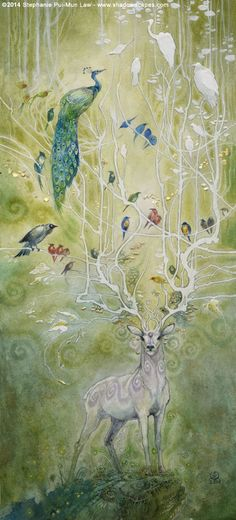 Stephanie Law - watercolor painter, botanical illustrator and artist of fantastical dreamworld imagery. Art And Illustration, Fantasy Creatures, Mythical Creatures, Illustrator, Creation Art, Spirit Animal, Amazing Art, Fantasy Art, Artwork