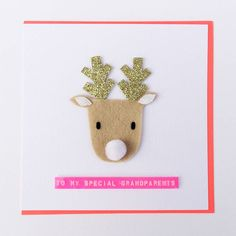Personalised Christmas Reindeer Greeting Card