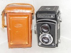 Vintage Yashica-A Twin Lens Reflex Camera with YASHIMAR 80mm f3.5 Lenses.  #Yashica