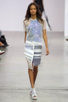 Go sheer. Iceberg, Milan, Spring 2014 Spring fashion trends 2014 #fashion #designer #runway