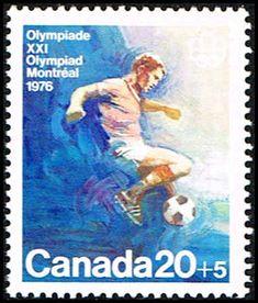 Blue Moon Filatélica sello tienda - Sello Canadá B12 sello de Fútbol Olímpico NA C B12-1 MNH, $ 0,70