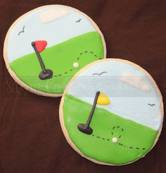 Golf Sugar Cookies by TheSugarCo on Etsy, $25.00