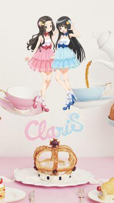 "ClariS - 3rd Aibum ""PARTY TIME"" image and the last album for  ""Alice"" . Alice graduated with this album releasing."