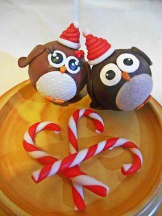 Vi presento Gufetto e Gufetta in versione natalizia!