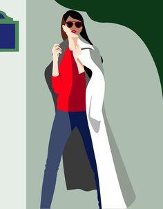 Illustration Mathilde Crétier People Illustration, Character Illustration, Flat Illustration, Arte Pop, Sleeping Drawing, Digital Painting Tutorials, Fashion Art, Fashion Design, Fashion Sketches