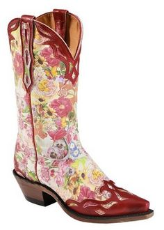 girly cowgirl boots | girly cowgirl boots flower print