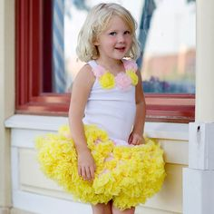 Pink and Yellow Pettiskirt from PoshTots
