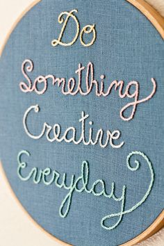 7 of the Best Ways to Display Quotes MAY PUT A QUILT SQUARE IN HOOP AND EITHER STITCH OR WRITE QUOTE IN BLACK. I THINK A BIGGER HOOP WOULD MAKE A BETTER STATEMENT.