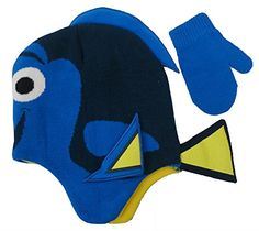 Disney finding Dory Nemo Hat and Mitten Set  Size 24 Years 4013 -- Click image to review more details.