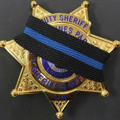 Mourning badges for the loss of our B.R. officers. May they rest in peace.