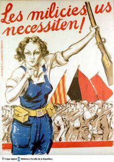 Les Milícies us necessiten! :: Cartells del Pavelló de la República (Universitat de Barcelona)
