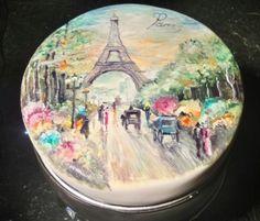 Handpainted  Paris