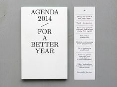 julie joliat | agenda for a better year. so good.